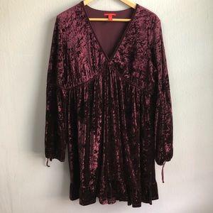 Chelsea & Violet velvet boho peasant dress XL.